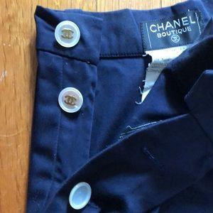 Vintage Chanel cotton sailor pant